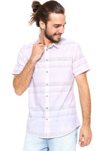 Camisa Sommer Reta Listrada Rosa