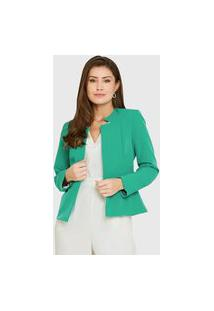 Blazer Alfaiataria Colors Verde Menta Miss Joy 6998