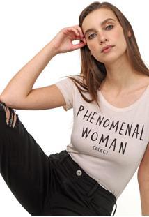 Camiseta Colcci Lettering Rosa - Rosa - Feminino - Viscose - Dafiti
