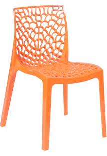 Cadeira Gruvyer- Laranja- 80,5X52,5X42Cm- Or Desor Design