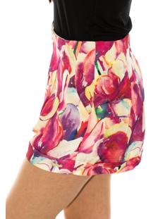 Shorts Capim Canela Confort Tulipa Estampado