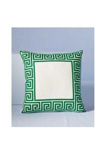 Capa De Almofada Calamata: Capa De Almofada Quadrada Cor: Verde - Tamanho: Único