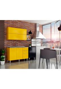 Cozinha Compacta Play 4 Pt 3 Gv Amarela