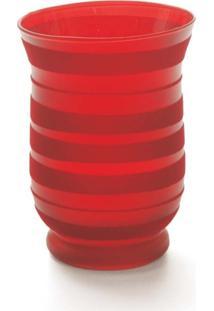Porta Velas Em Vidro Porta Vela Vermelho 15 X 11 Cm Vermelho