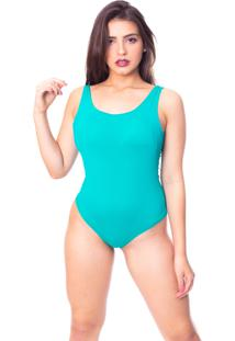 Body Moda Vicio Regata Com Bojo Decote Costas Com Elástico Verde