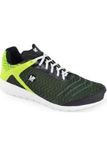 Tênis Meu Sapato Fit 0722 - Masculino-Verde+Branco