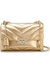 Michael Michael Kors Cece Quilted Shoulder Bag - Dourado