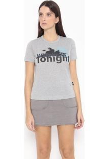 "Camiseta ""Whisky Is Tonight"" - Cinza & Preta - Alexaalexandre Herchcovitch"