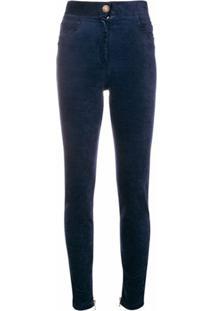 Balmain Calça Skinny - Azul