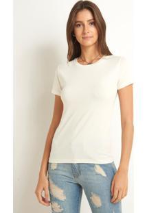 Blusa Le Lis Blanc Fatima Ii Malha Off White Feminina (Off White, P)