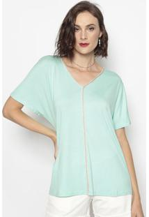 Blusa Com Recortes- Verde Claro- Cotton Colors Extracotton Colors Extra