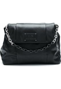 Armani Exchange Bolsa Shoulder Com Logo - Preto