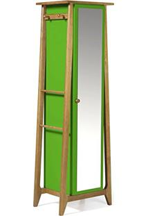 Armário Multiuso 1 Porta Stoka Maxima Nogal/Verde Limão