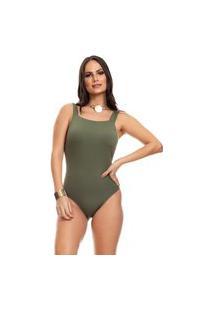 Body Clara Arruda Decote Quadrado 17012 Verde