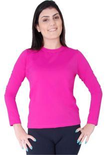 Blusa Roupas Térmicas Proteção Solar Uv 50+ Respirável Rosa