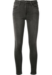 Frame Calça Jeans Skinny 'Le High Burton' - Preto