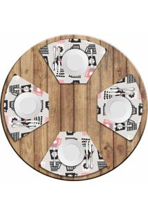 Jogo Americano Love Decor Para Mesa Redonda Wevans Xícaras Kit Com 4 Pçs - Kanui