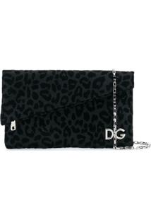 Dolce & Gabbana Bolsa Clutch Dobrável Com Logo - Preto