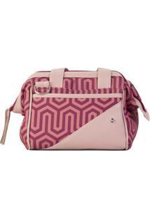 Bolsa Grace Com Fivelas- Rosa Claro & Roxa- 22X20X17Paccoby