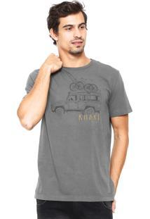 Camiseta Richards Estampada Cinza