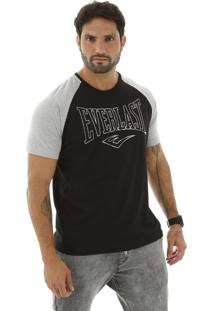 Camiseta Raglan Everlast Com Logo E Escrito