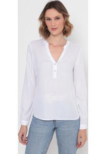 Blusa Lisa Com Botões- Off Whitevip Reserva