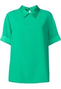 Rochas Blusa Com Colarinho - Verde