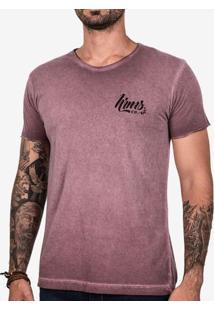 Camiseta Vinho Estonado 102137