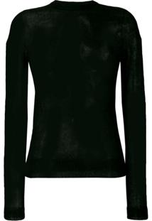 Rick Owens Suéter Semi Translúcido - Preto