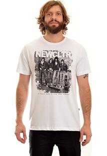 Camisa Manga Curta New Skate Ramones Branco