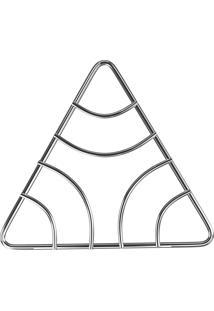 Descanso Triangular De Panela Aço Cromado Org8523 Euro Home