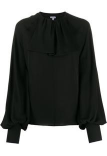 Loewe Blusa Com Gola Sobreposta - Preto
