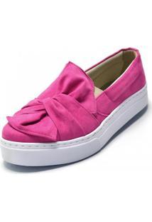 Tênis Flor Da Pele Laço Pink