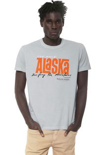 Camiseta Osklen Alska Logo Azul