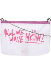 Bolsa Transversal Colcci All We Have Feminina - Feminino-Pink