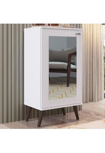 Sapateira 1 Porta Com Espelho 3 Prateleiras Sp060 Branco - Completa Móveis