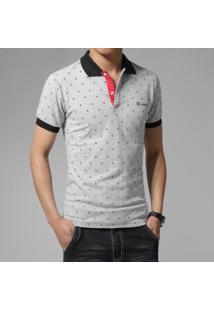 f2f4e27217078 Camisa Pólo Estampada Slim Fit masculina