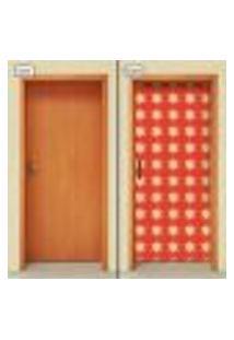 Adesivo Decorativo De Porta - Flores - 1827Cnpt