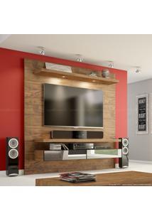 Painel Para Tv Até 50 Polegadas Tb107 Com Led E Espelho 100% Mdf 180 X 180 X 40 Nobre - Dalla Costa
