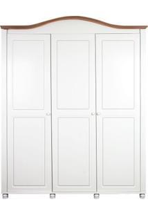 Armário 3 Portas Victória Branco Com Carvalho Quater