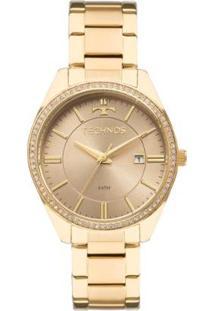 Relógio Feminino Technos Ladies 2115Mnb/4M Pulseira Aço - Feminino-Dourado