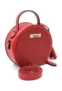 Bolsa Maria Milão Minibag Animal Print Style Feminina - Feminino-Vermelho