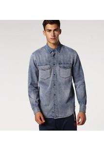 Camisa Diesel D-Rooke Masculina - Masculino-Jeans