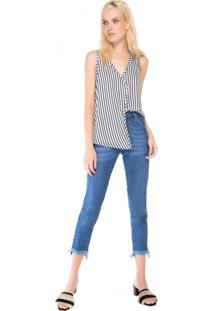 Calça Jeans Skinny Assimétrica