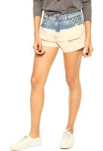 Short Eva Bicolor Azul