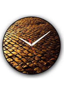 Relógio De Parede Colours Creative Photo Decor Decorativo, Criativo E Diferente - Rua De Pedras Em Ouro Preto, Mg