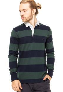 fdf215fb5 ... Camisa Polo Manga Longa Tommy Hilfiger Regular Fit Listras Verde