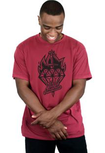 Camiseta Bleed American Diamond Vinho