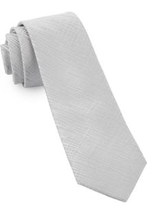 Gravata Slim Details Silver - Spc87