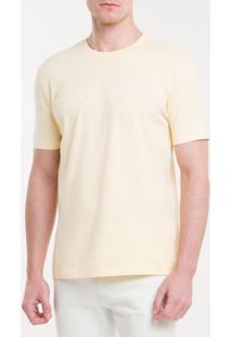 Camiseta Regular New Year Success - Amarelo Claro - Pp